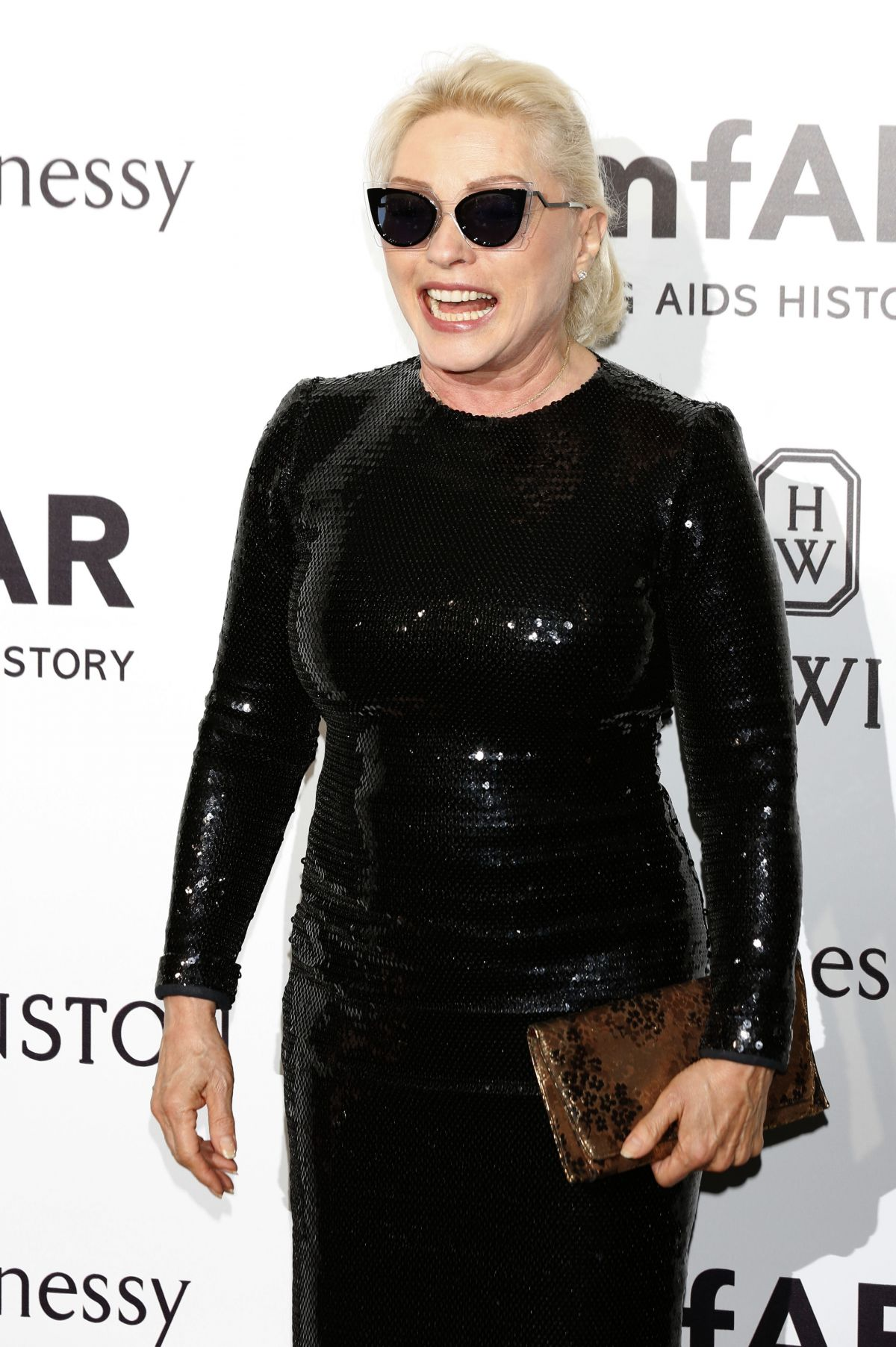 DEBBIE HARRY at amfAR Gala in Milan 09/26/2015