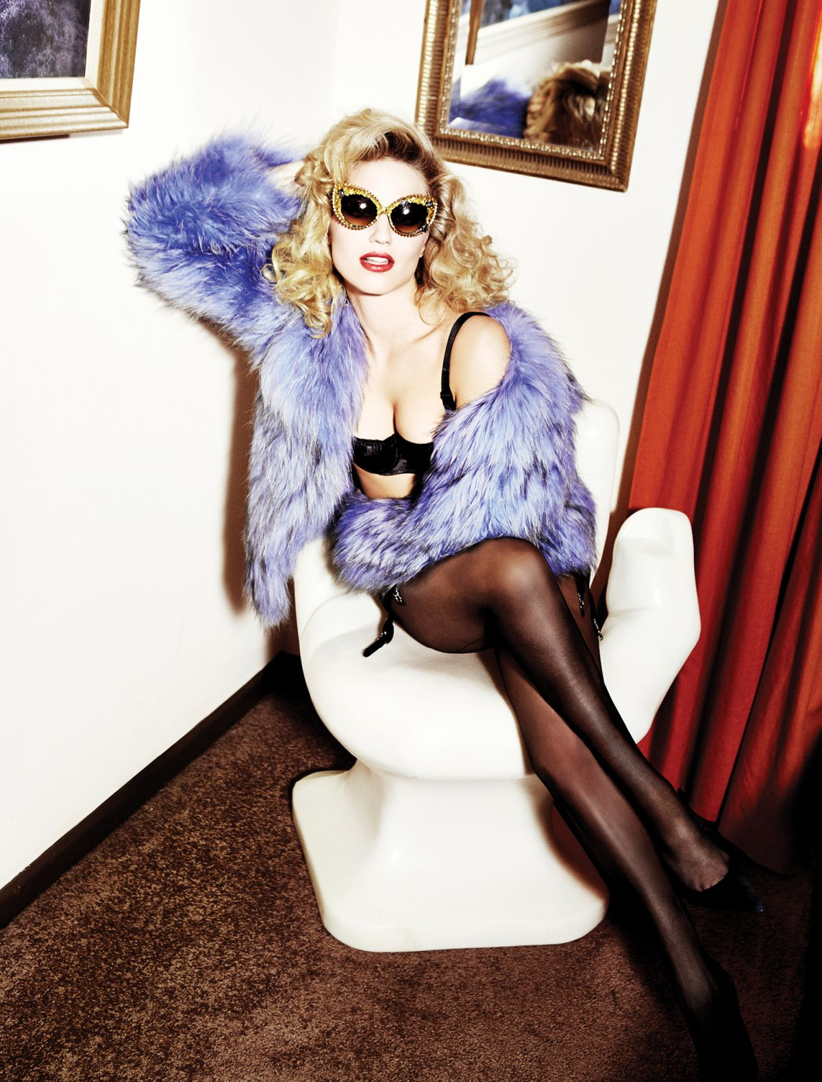 DIANNA AGRON by Ellen Von Unwerth Photoshoot for Galore ...