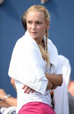DONNA VKIC at Stan Wawrinka Match at 2015 US Open in New York 09/03/2015