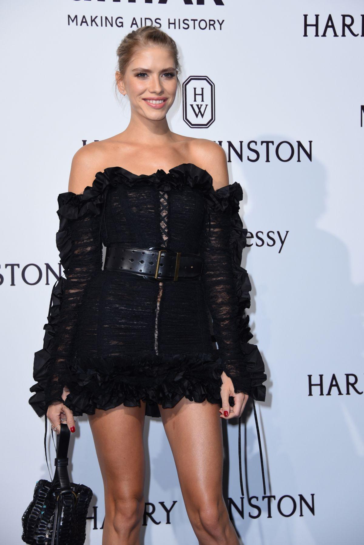 ELENA PERMINOVA at amfAR Gala in Milan 09/26/2015