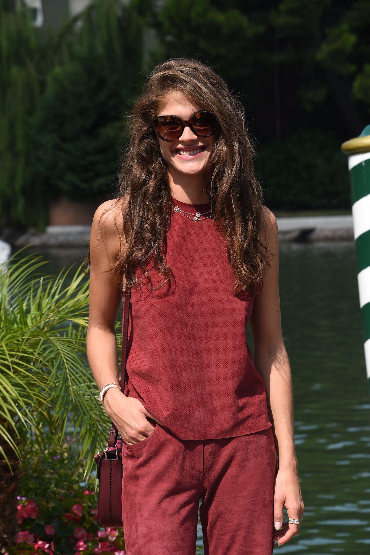 ELISA SEDNAOUI Arrives at Lido for 72nd Venice Film Festival 09/01/2015