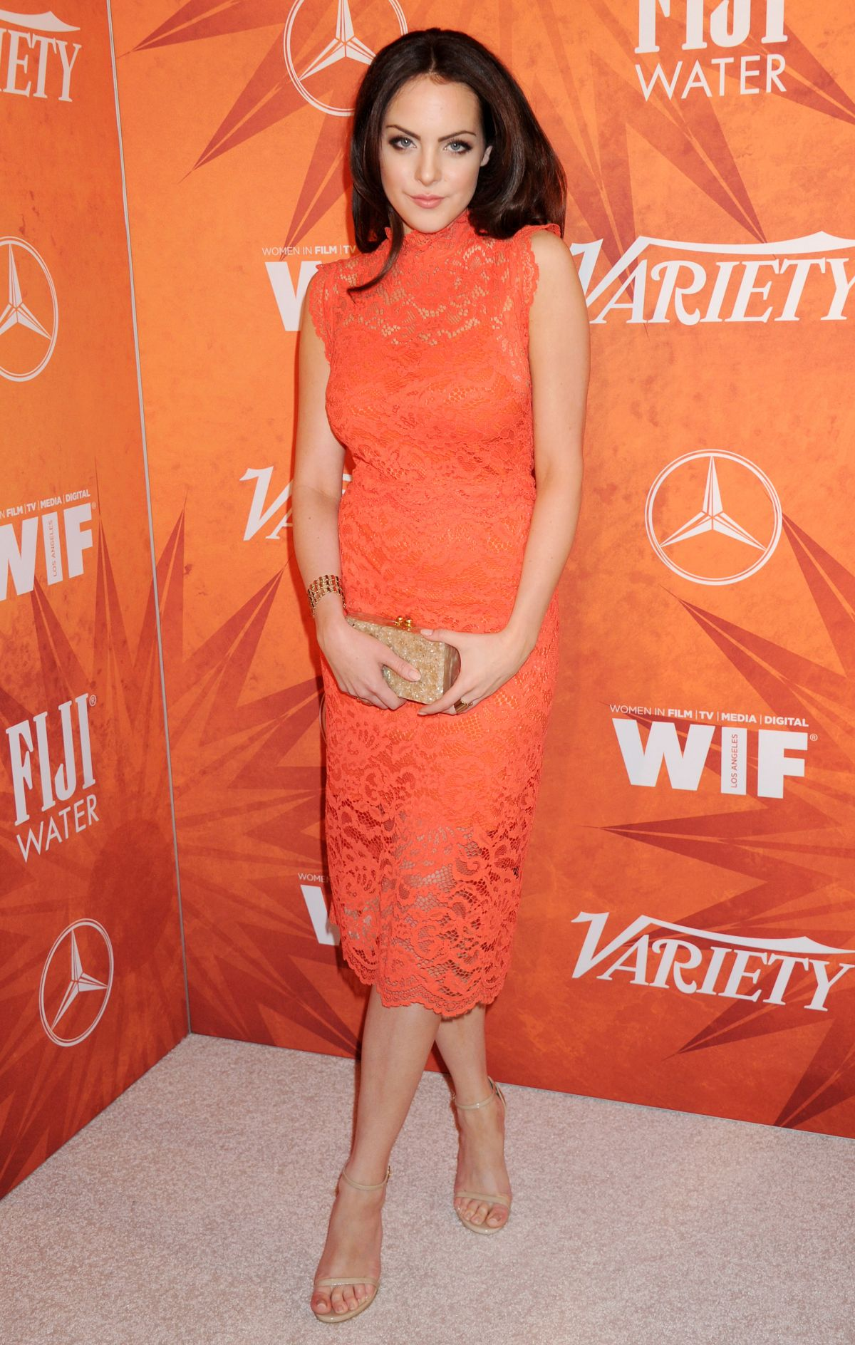 ELIZABETH GILLIES at Variety and Women in Film Annual Pre ...