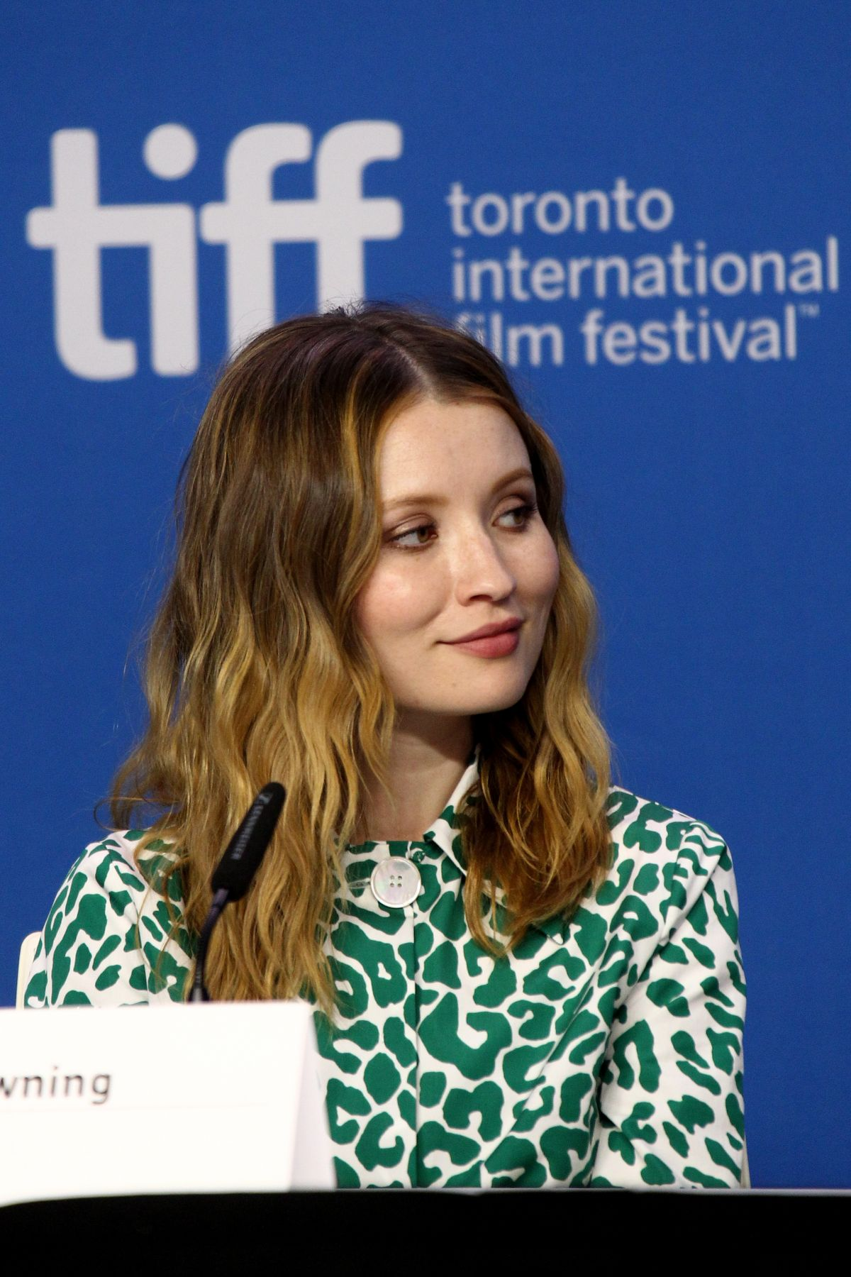 EMILY BROWNING at Legend Press Conference at 2015 TIFF 09/12/2015