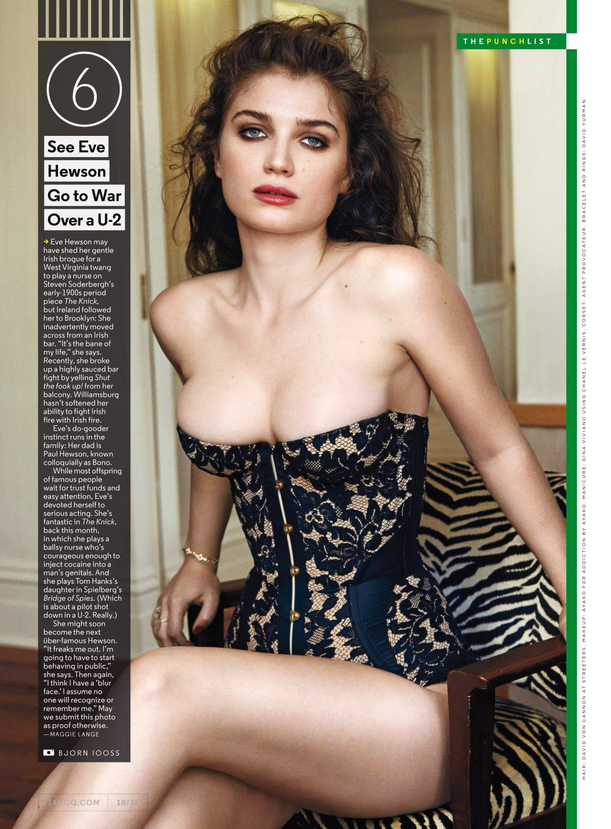 EVE HEWSON in GQ Magazine, October 2015 Issue