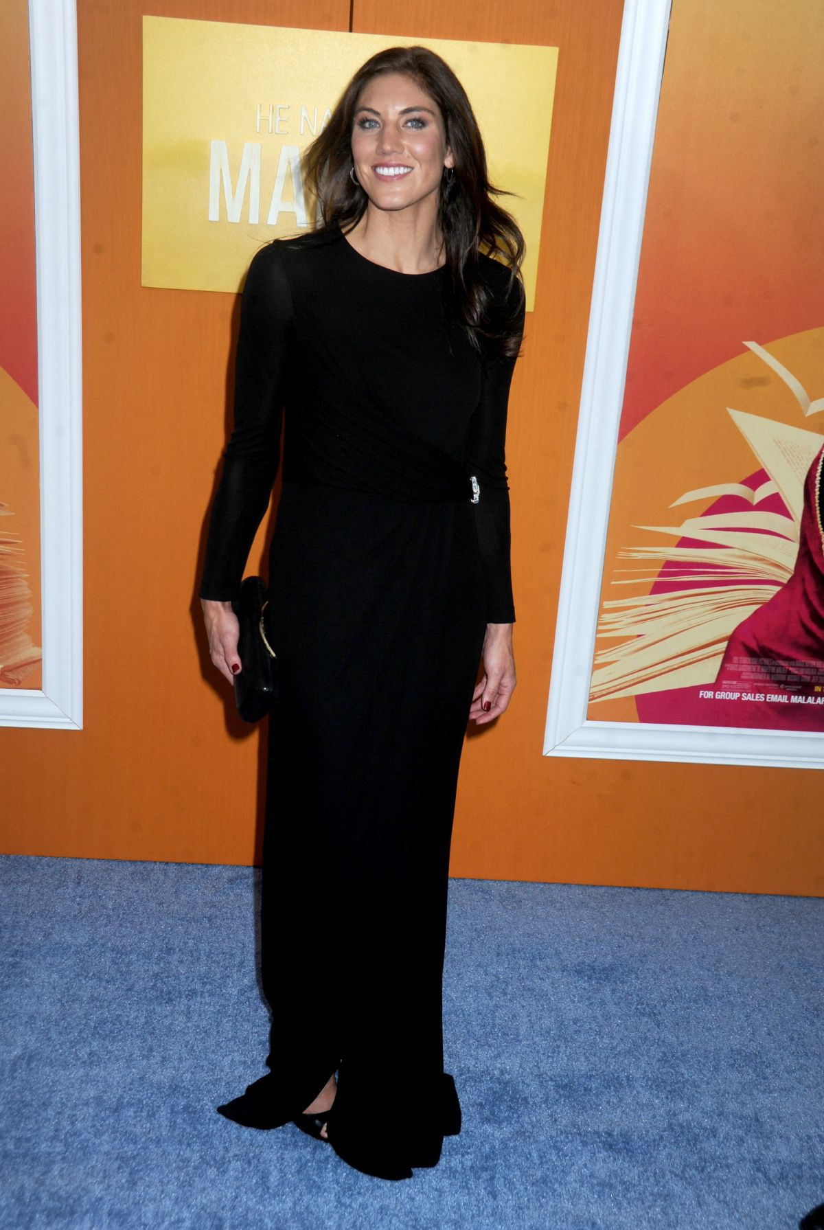 HOPE SOLO at He Named Me Malala Premiere in New York 09/24/2015