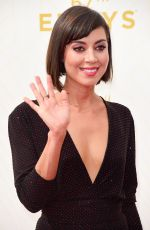 AUBREY PLAZA at 2015 Emmy Awards in Los Angeles 09/20/2015