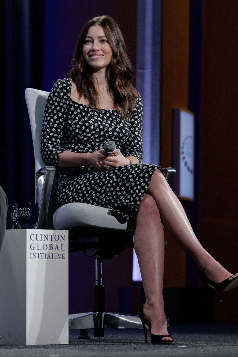 JESSICA BIEL at 2015 Clinton Global Initiative