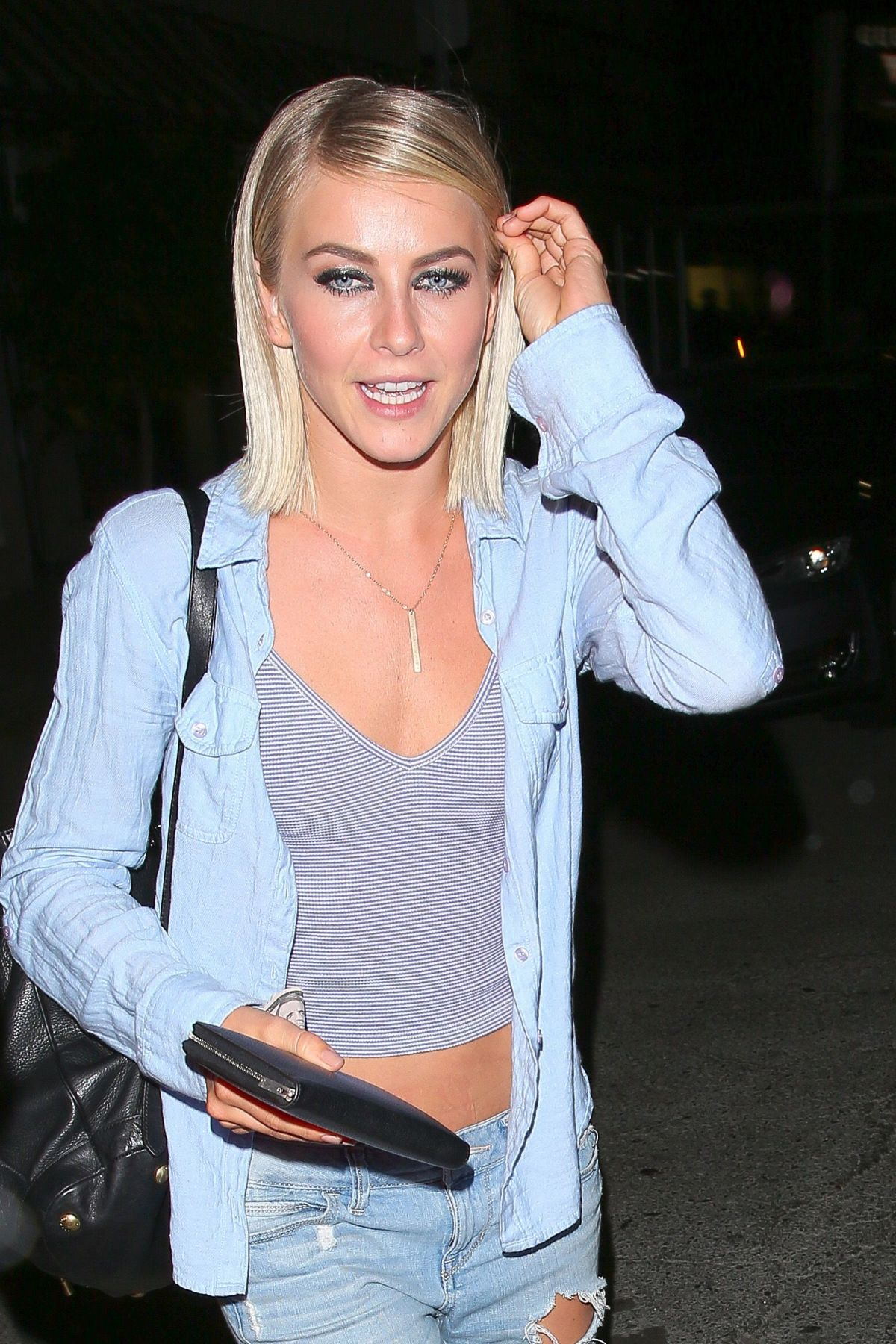 cce487d8b3c JULIANNE HOUGH in Ripped Jeans Leaves The Nice Guy in West Hollywood 09/22/