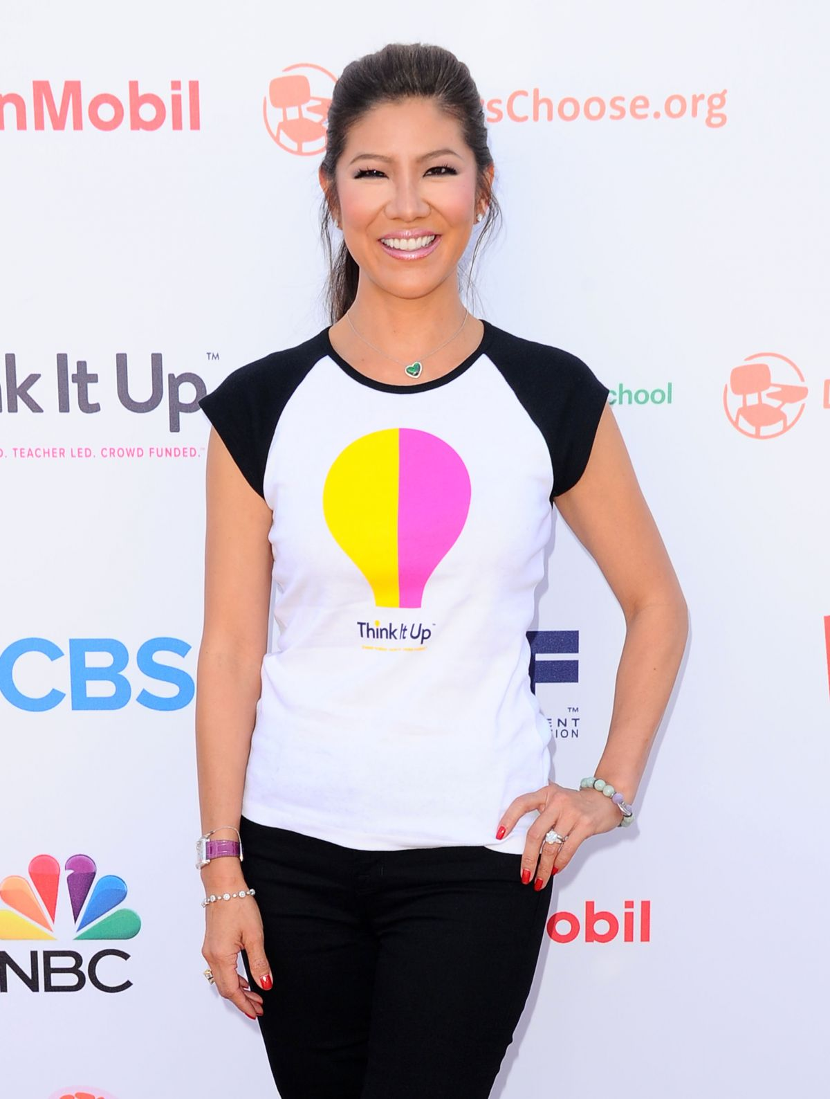 JULIE CHEN at Think It Up Education Initiative Telecast in Santa Monica
