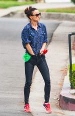 JULIETTE LEWIS Walks Her Dog Out in Los Angeles 09/16/2015