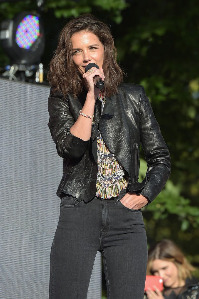 KATIE HOLMES at 2015 Global Citizen Festival in New York 09/26/2015