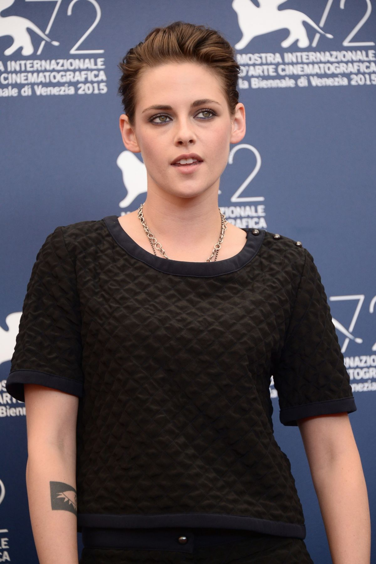 KRISTEN STEWART at Equals Photocall at 2015 Venice Film Festival –  HawtCelebs