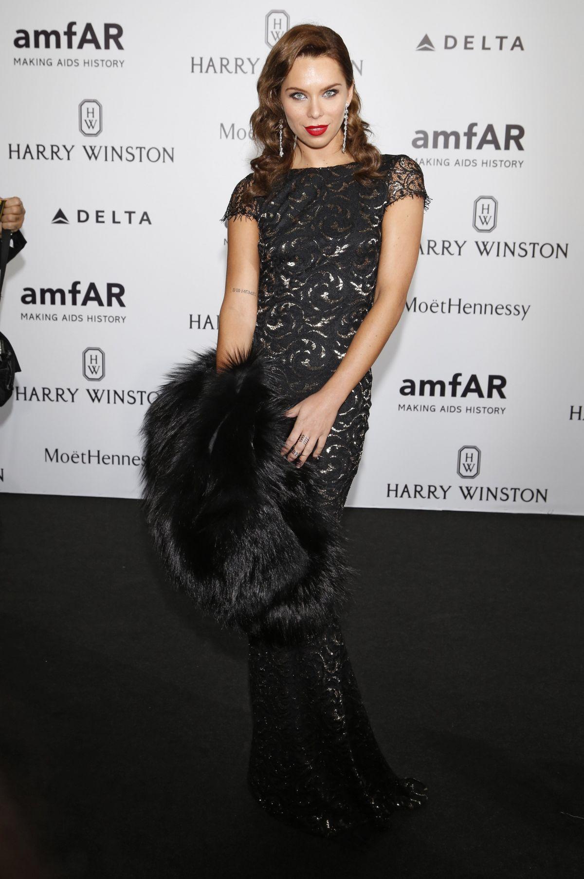 KRISTINA LILIANA CHUDINOVA at amfAR Gala in Milan 09/26/2015