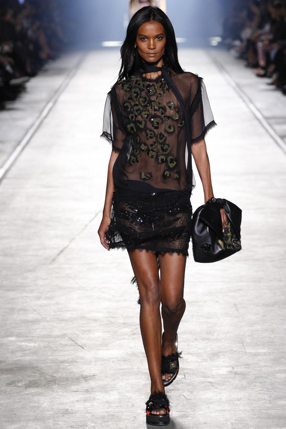LIYA KEBEDE at Versace Fashion Show at Milan Fashion Week ...