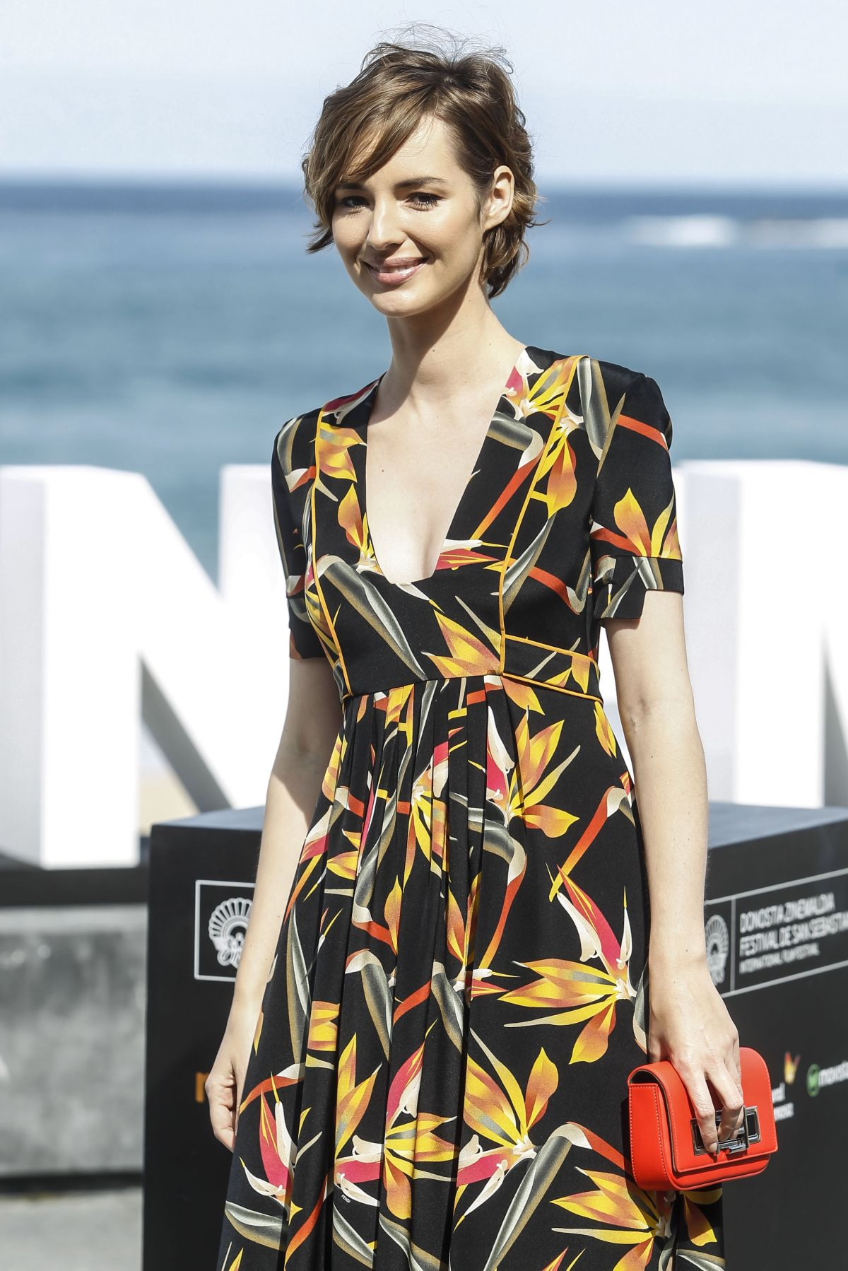 LOUISE BOURGOIN at Les Chevaliers Blancs Photocall at 2015 San Sebastian Film Festival 09/24/2015