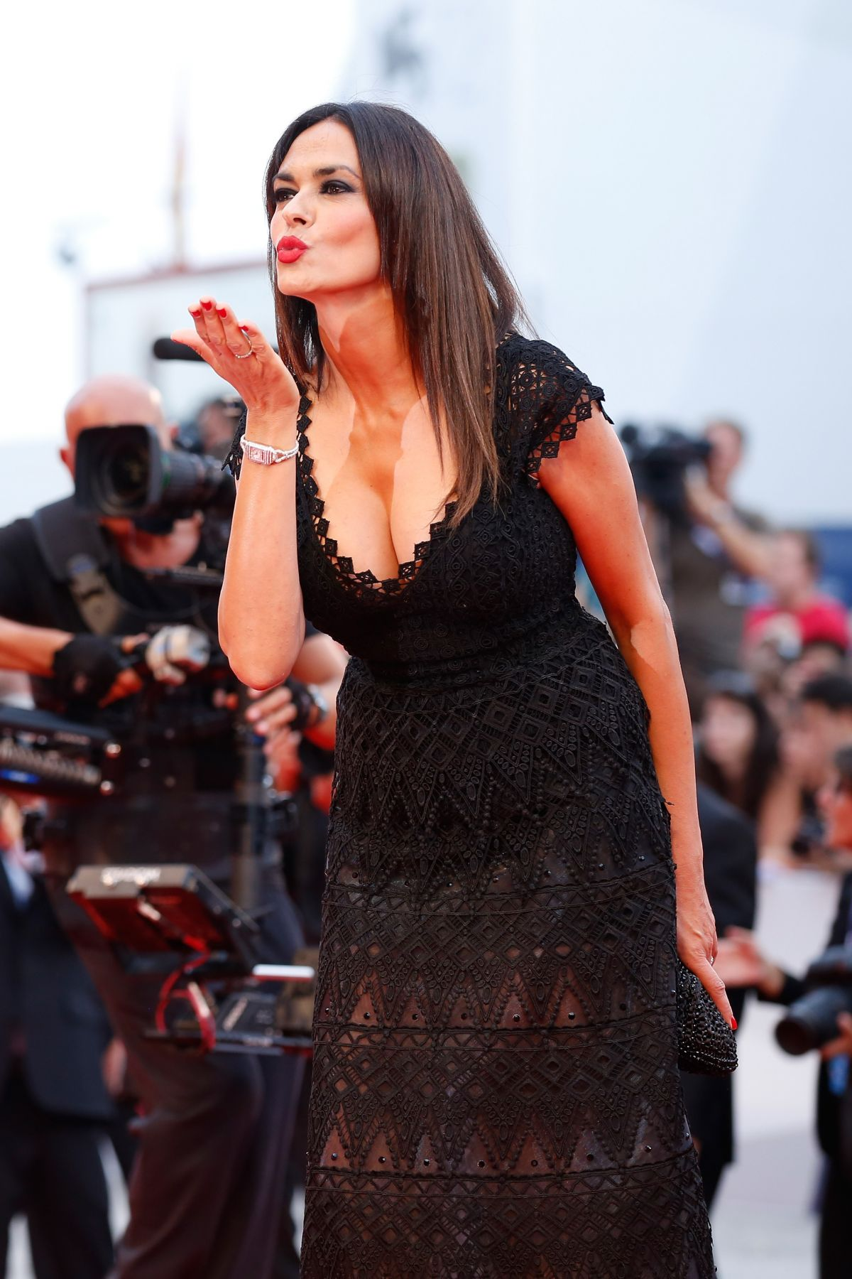 MARIA GRAZIA CUCINOTTA at Everest Premiere and 72nd Venice Film Festival Opening Ceremony