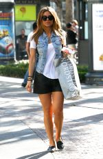 MARIA MENOUNOS Out Shopping at The Grove in West Hollywood 09/25/2015
