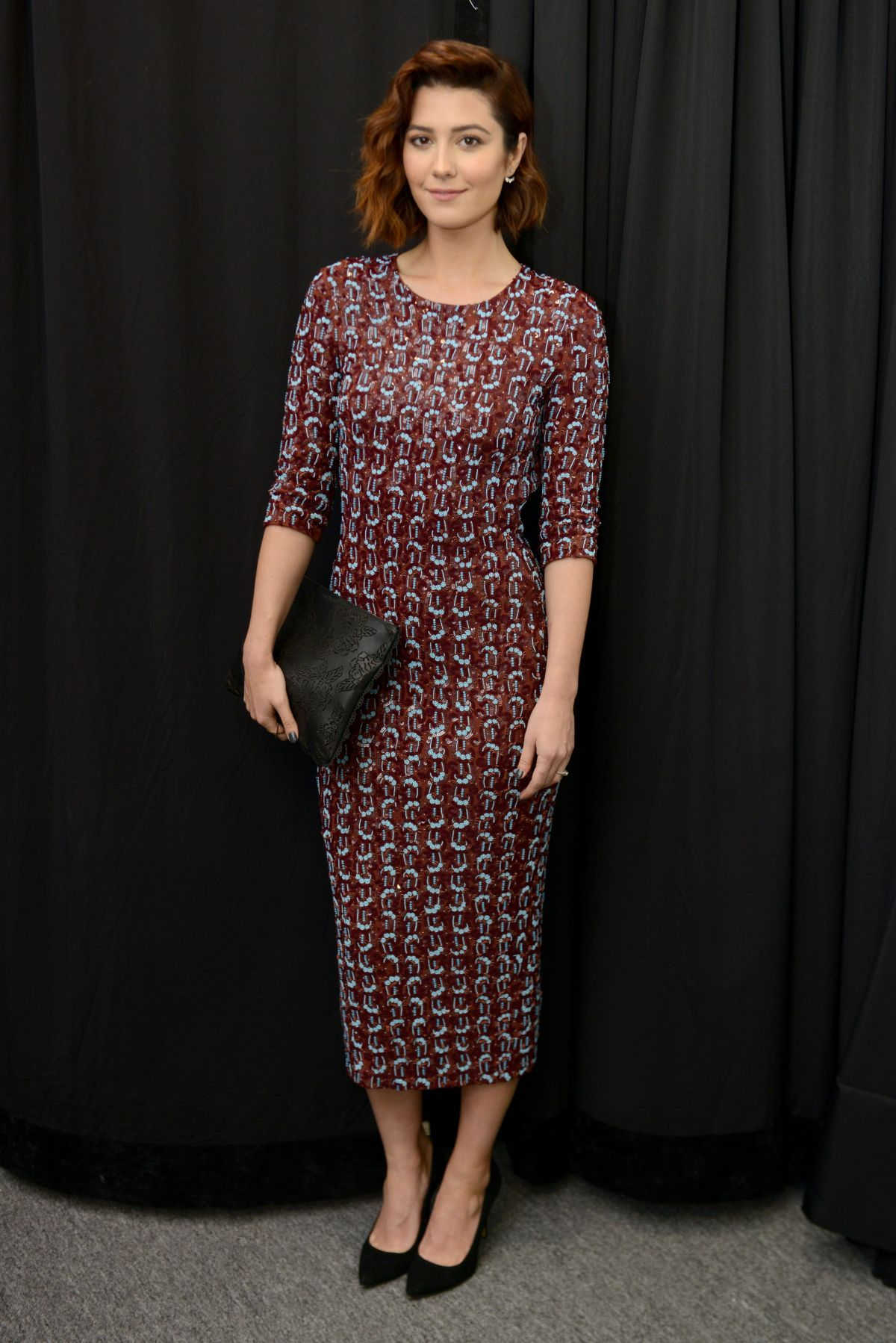 mary elizabeth winstead at penny packham fashion show in new york