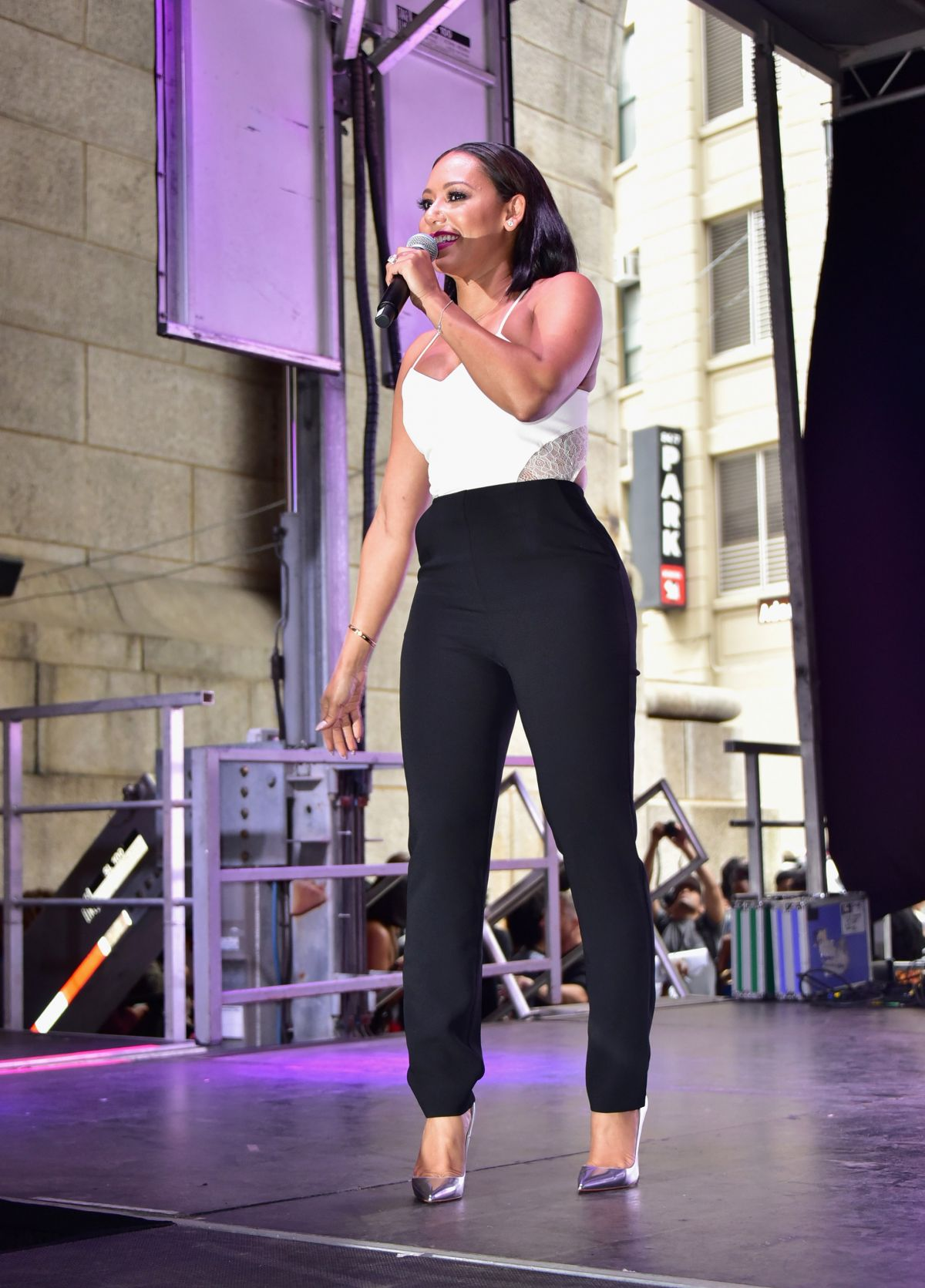 MELANIE BROWN at 2015 Essence Street Style Block Party in New York 09/13/2015