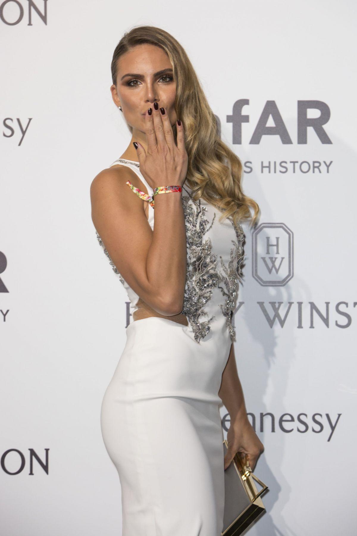 NINA SENICAR at amfAR Gala in Milan 09/26/2015