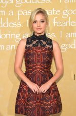 OLIVIA HOLT at Alice + Olivia by Stacey Bendet Fashion Show in New York 09/15/2015