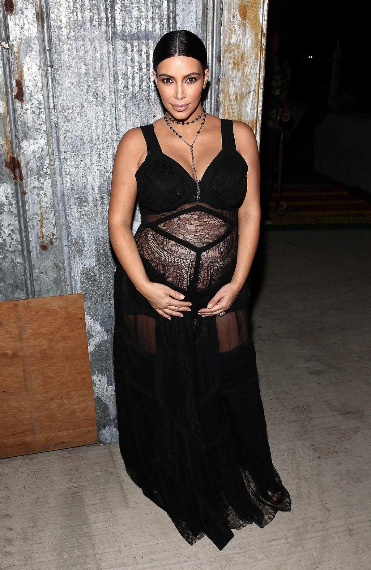 Pregnant KIM KARDASHIAN at Givenchy Fashion Show in New York 09/11