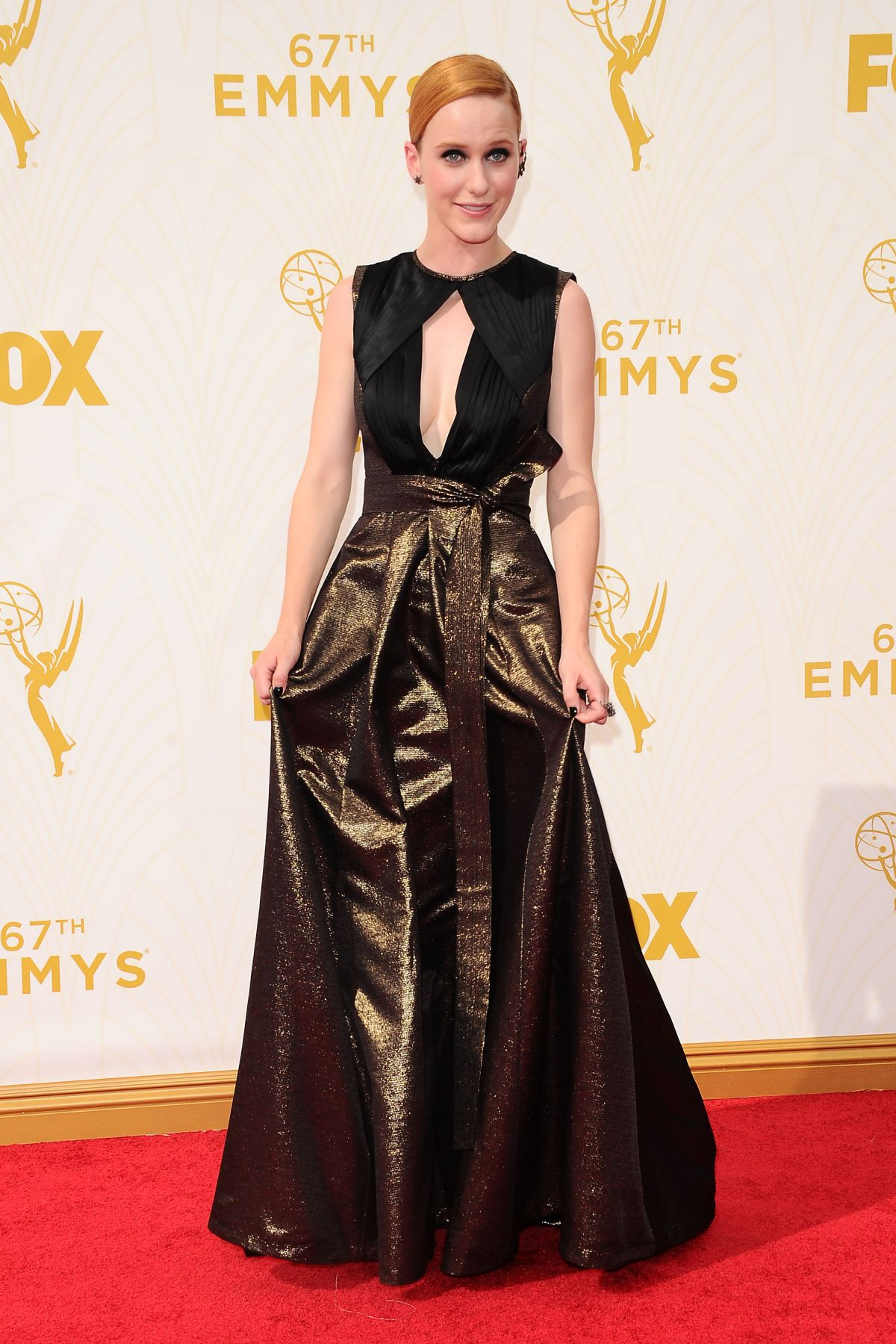 RACHEL BROSNAHAN at 2015 Emmy Awards in Los Angeles 09/20/2015