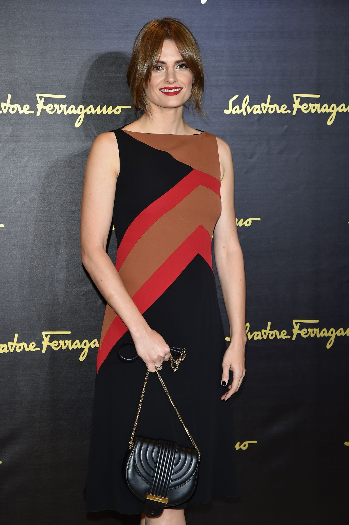 STANA KATIC at Salvatore Ferragamo Fashion Show at Milan Fashion Week 09/27/2015
