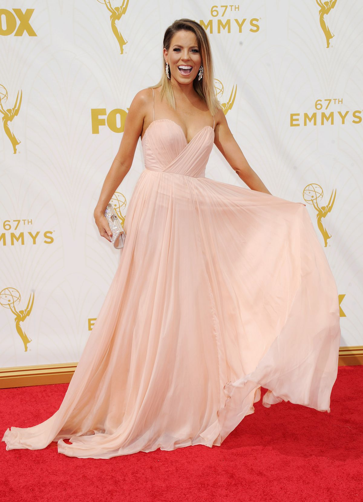 STEPHANIE BAUER at 2015 Emmy Awards in Los Angeles 09/20/2015
