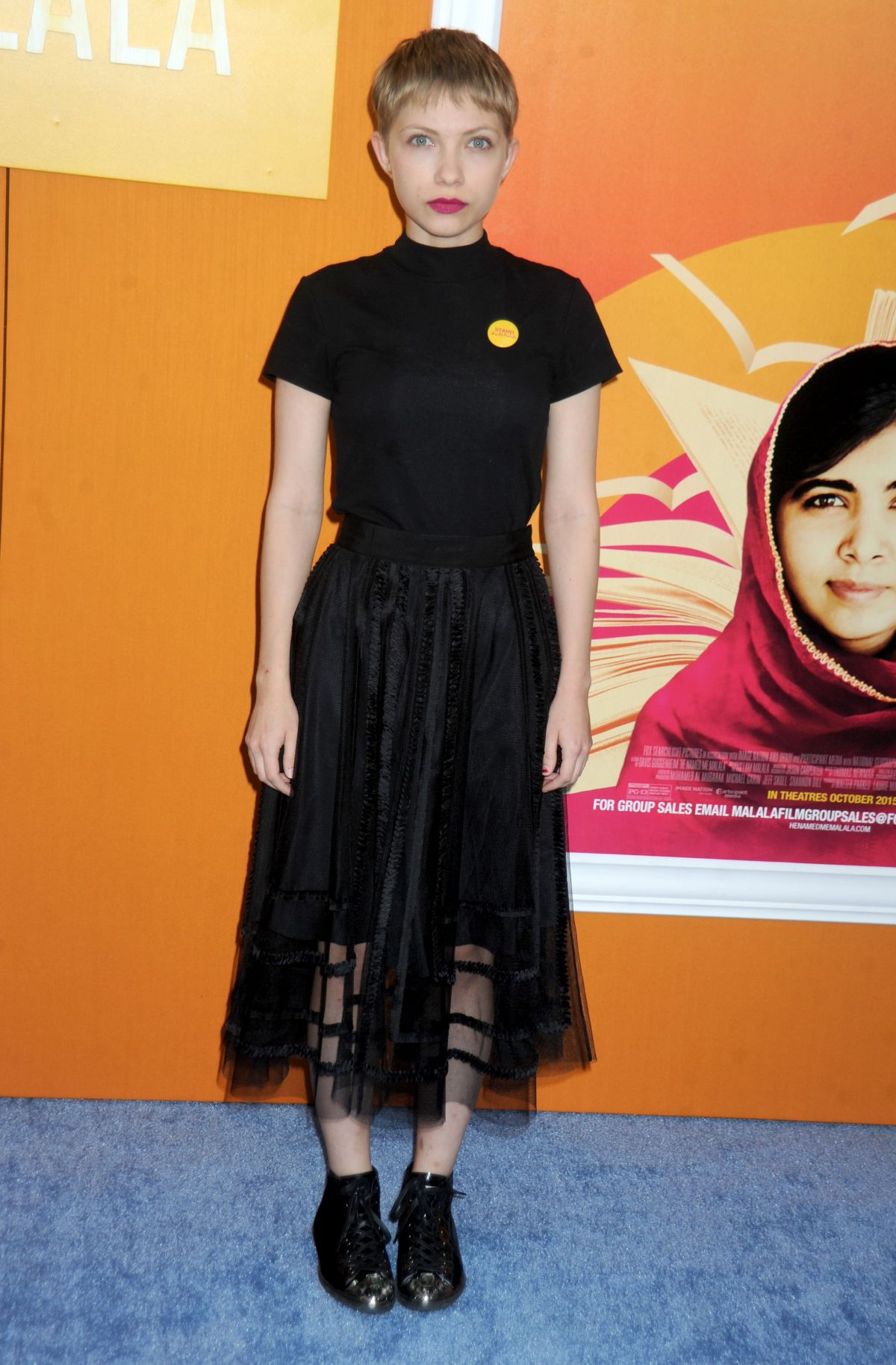 TAVI GEVINSON at He Named Me Malala Premiere in New York 09/24/2015