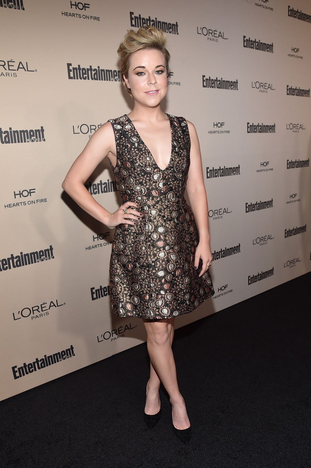TINA MAJORINO at 2015 Entertainment Weekly Pre-emmy Party in West Hollywood 09/18/2015