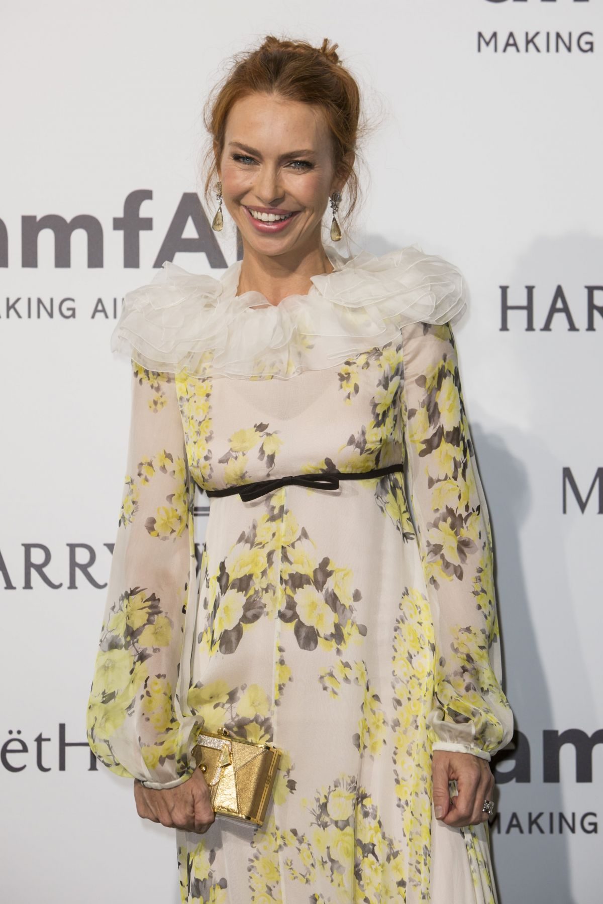 YVONNE SCIO at amfAR Gala in Milan 09/26/2015