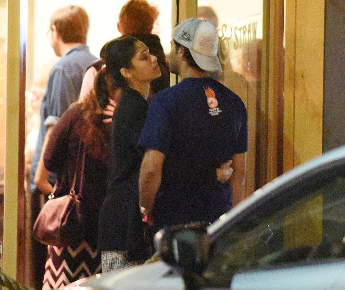FREIDA PINTO Kisses He...