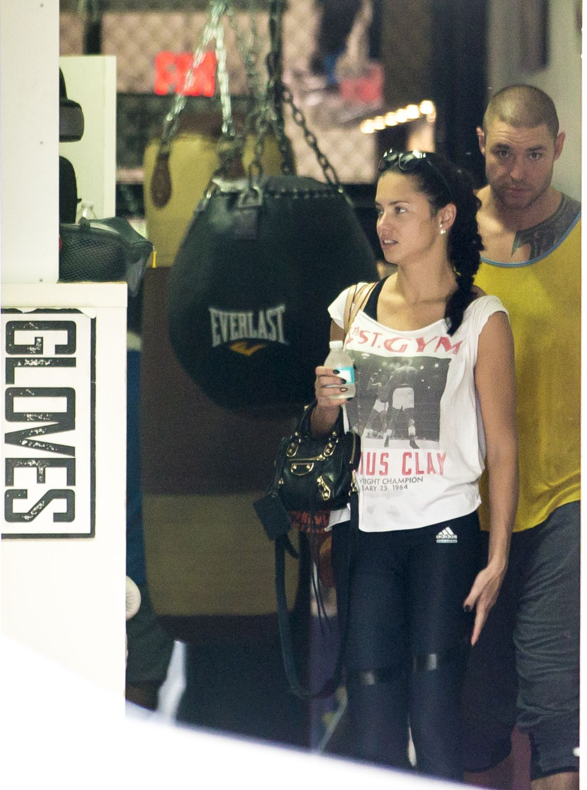 ADRIANA LIMA Leaves a Gym in Miami 10/27/2015