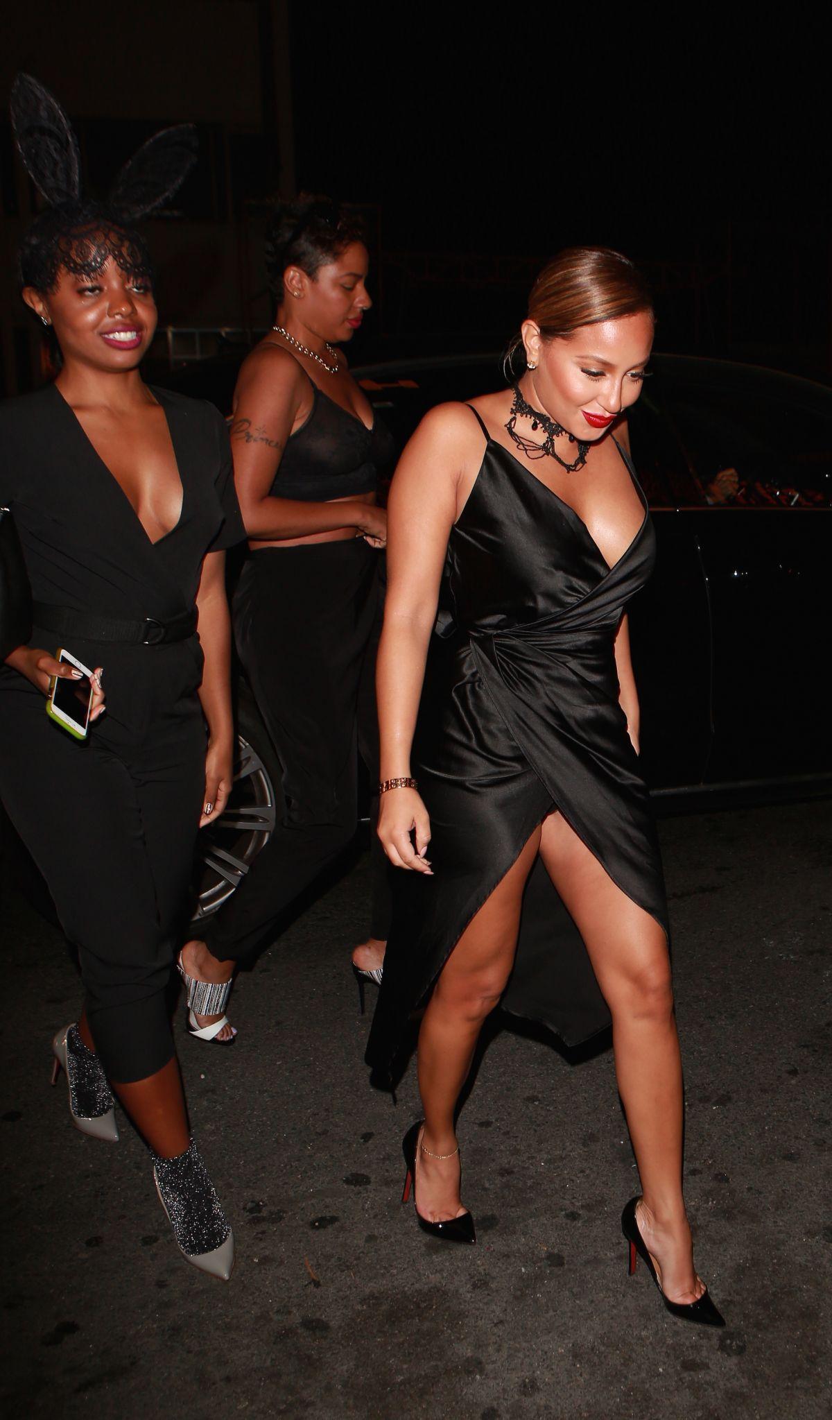 ADRIENNE BAILON Arrives at 1Oak Nightclub in Los Angeles 09/24/2015