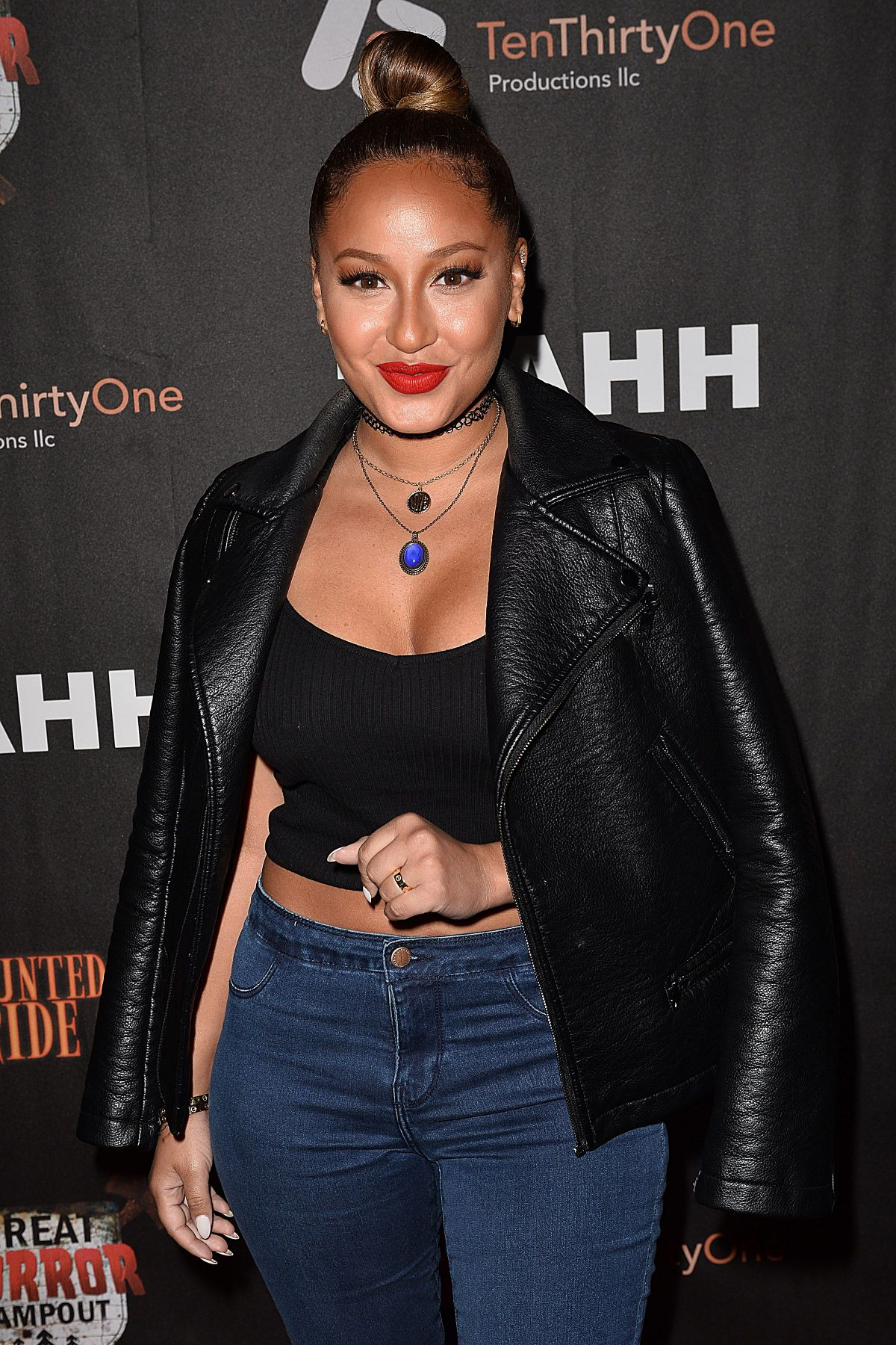 ADRIENNE BAILON at Los Angeles Haunted Hayride Black Carpet Premiere Night in Los Angeles 10/04/2015