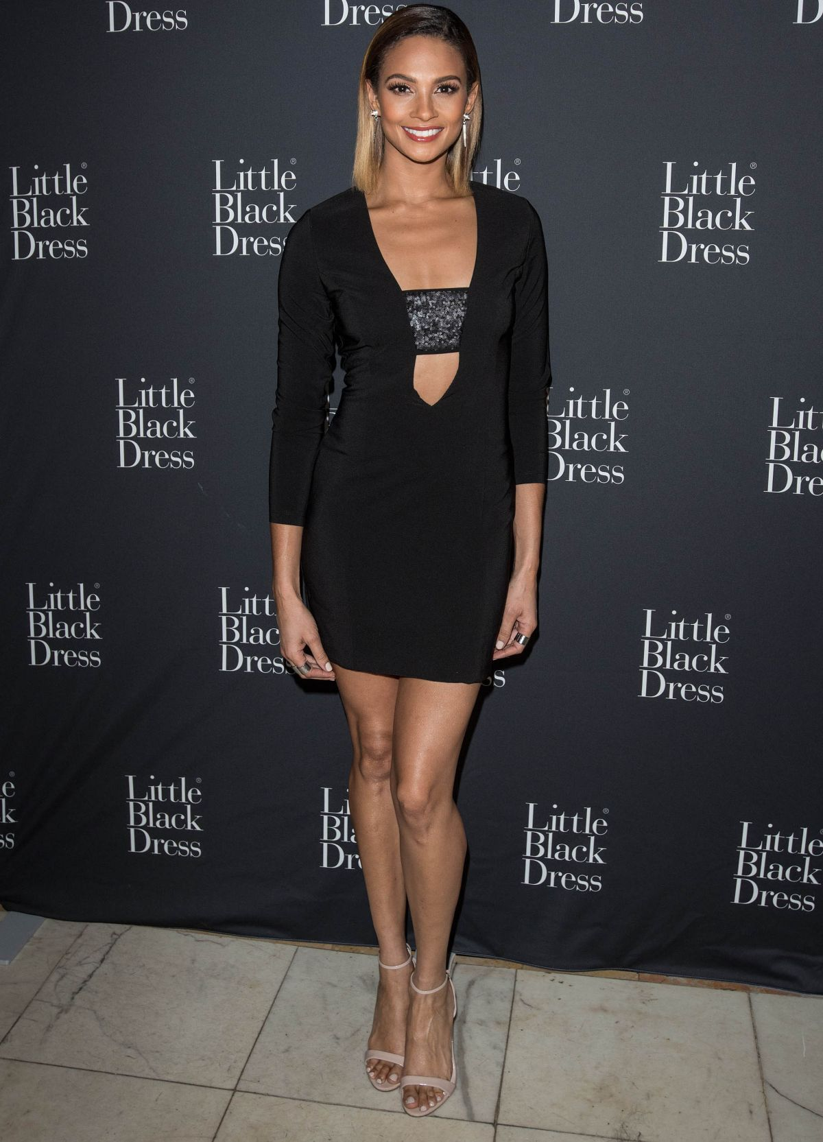 ALESHA DIXON at Little Black Dress Launch Party in London 10/22/2015