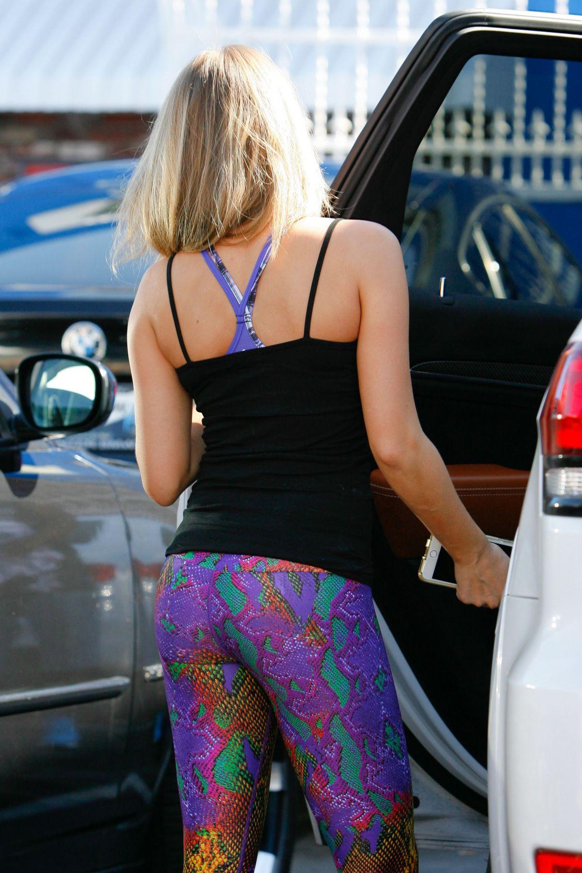 ALEXA VEGA in Tights at DWTS Studio in Hollywood 10/10/2015