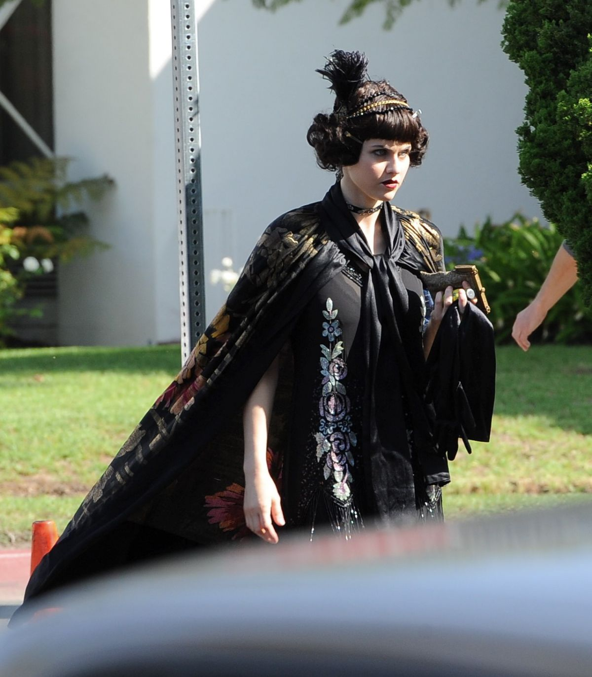 ALEXANDRA DADDARIO on the Set of American Horror Story in Los Angeles 10/23/2015