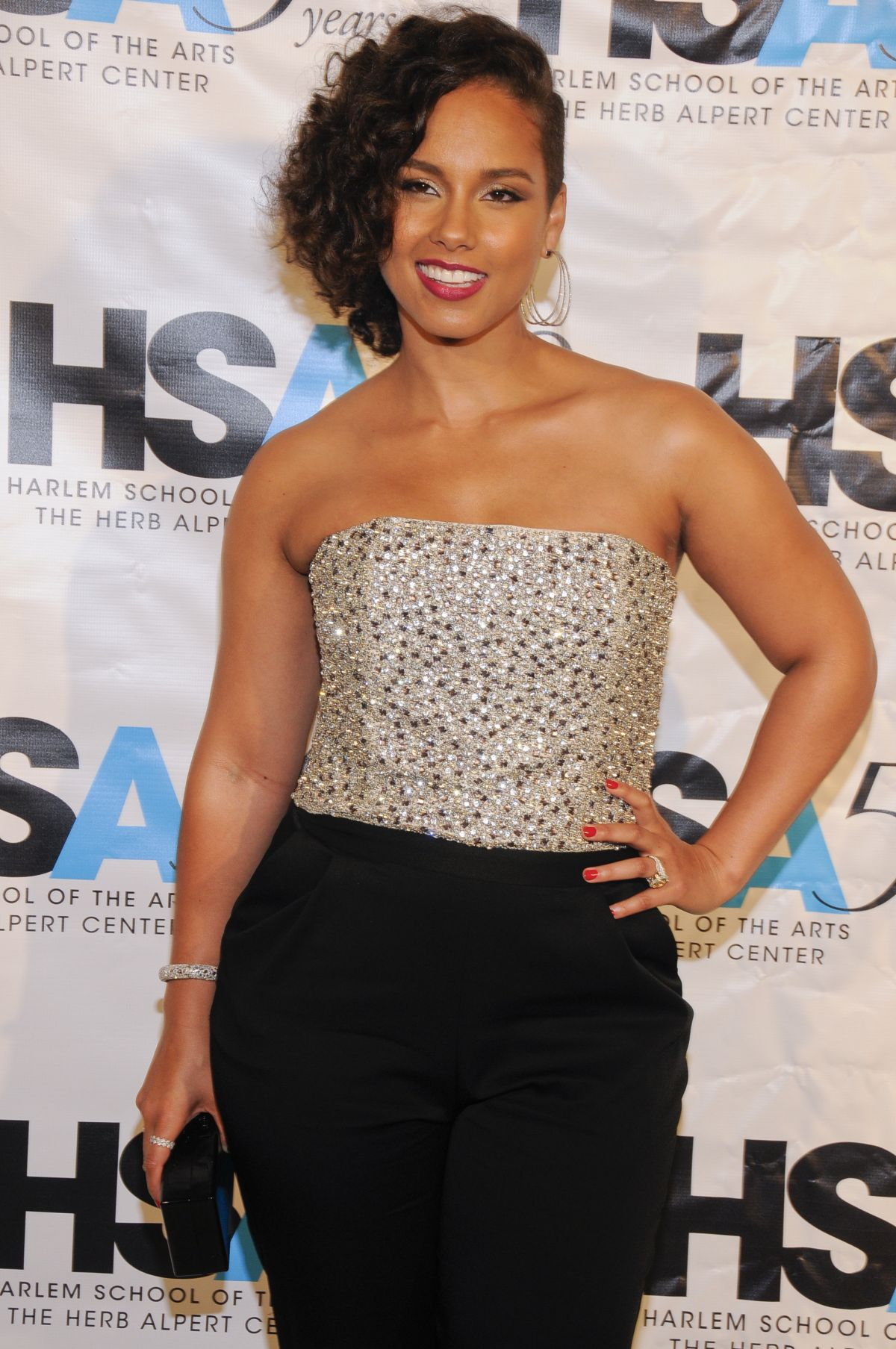 ALICIA KEYS at Harlem School of Arts Gala Kickoff in in New York 10/05/2015