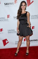 ALICIA SANZ at 4th Annual Saving Innocence Gala to Combat Child Sex Trafficking in Los Angeeles 10/17/2015