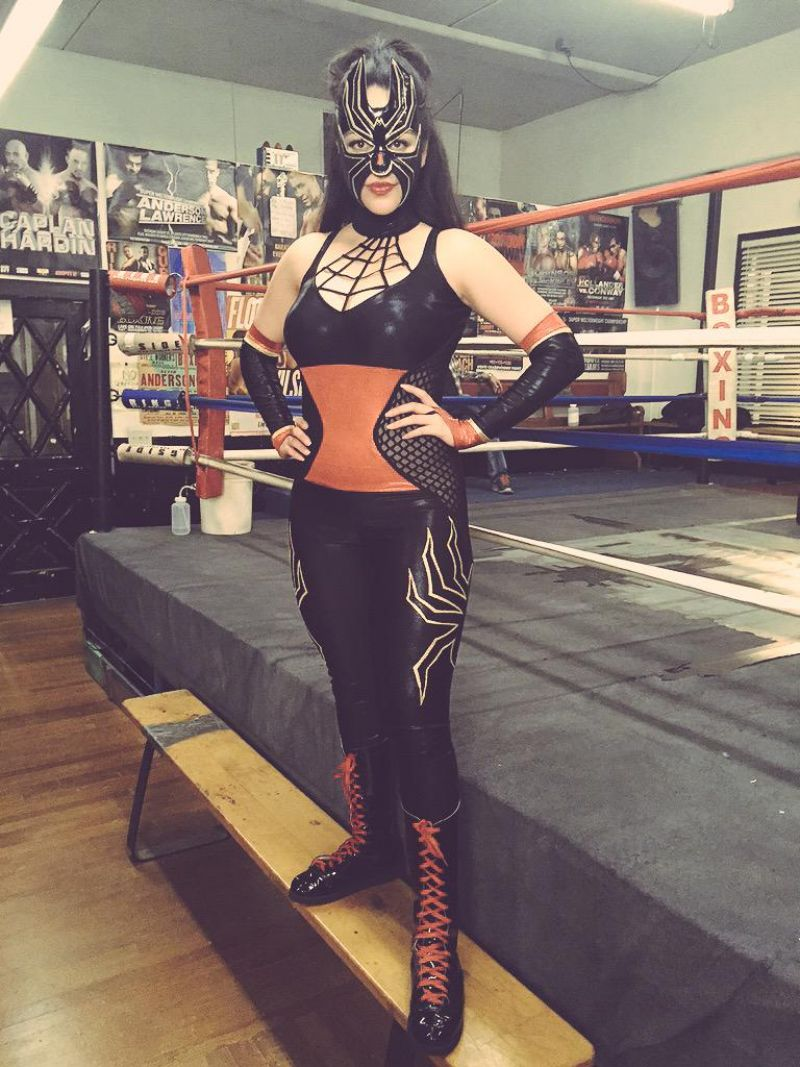 ALYSSA DIAZ in Luchadora Wrestling Costume from Ray DonoVan