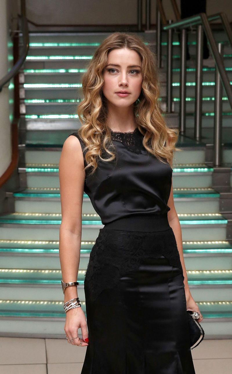 Amber Heard At Black Mass Virgin Atlantic Gala Screening
