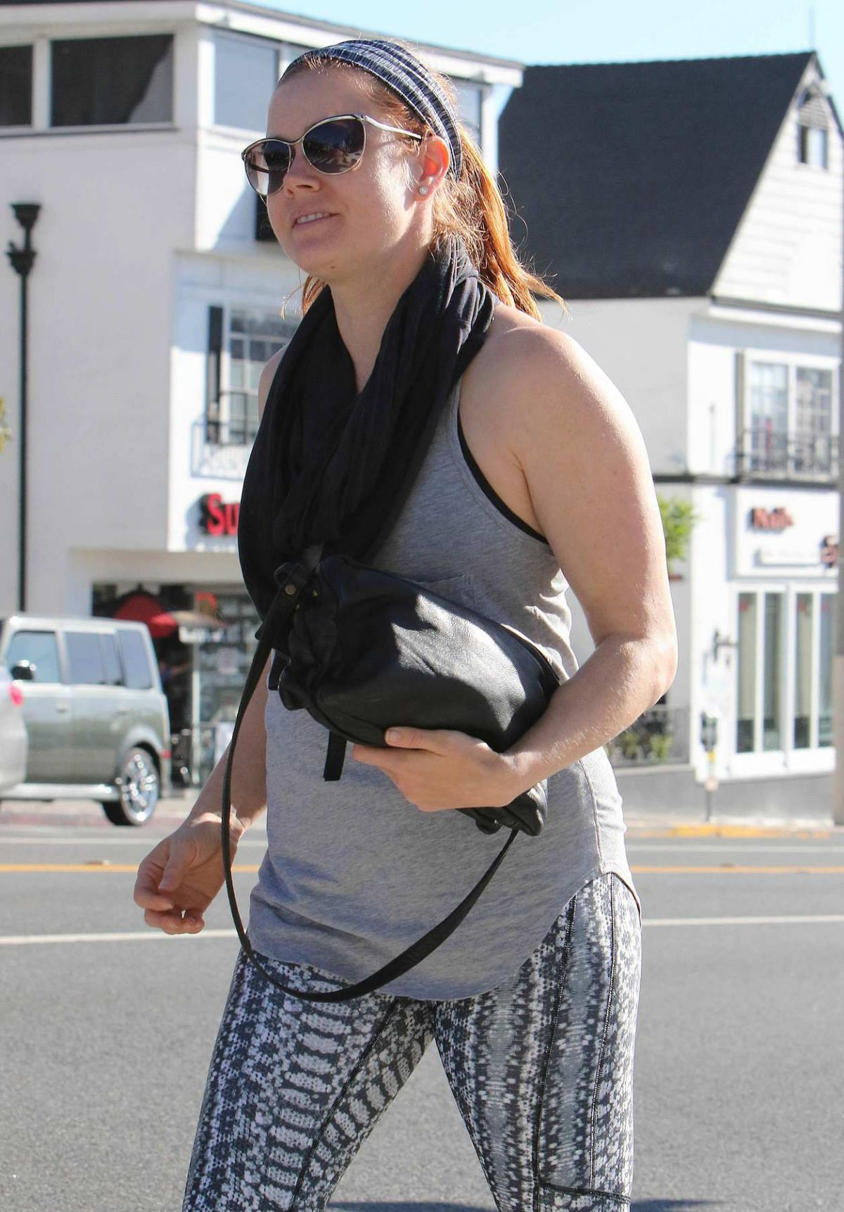 AMY ADAMS Out and About in West Hollywood 10/02/2015