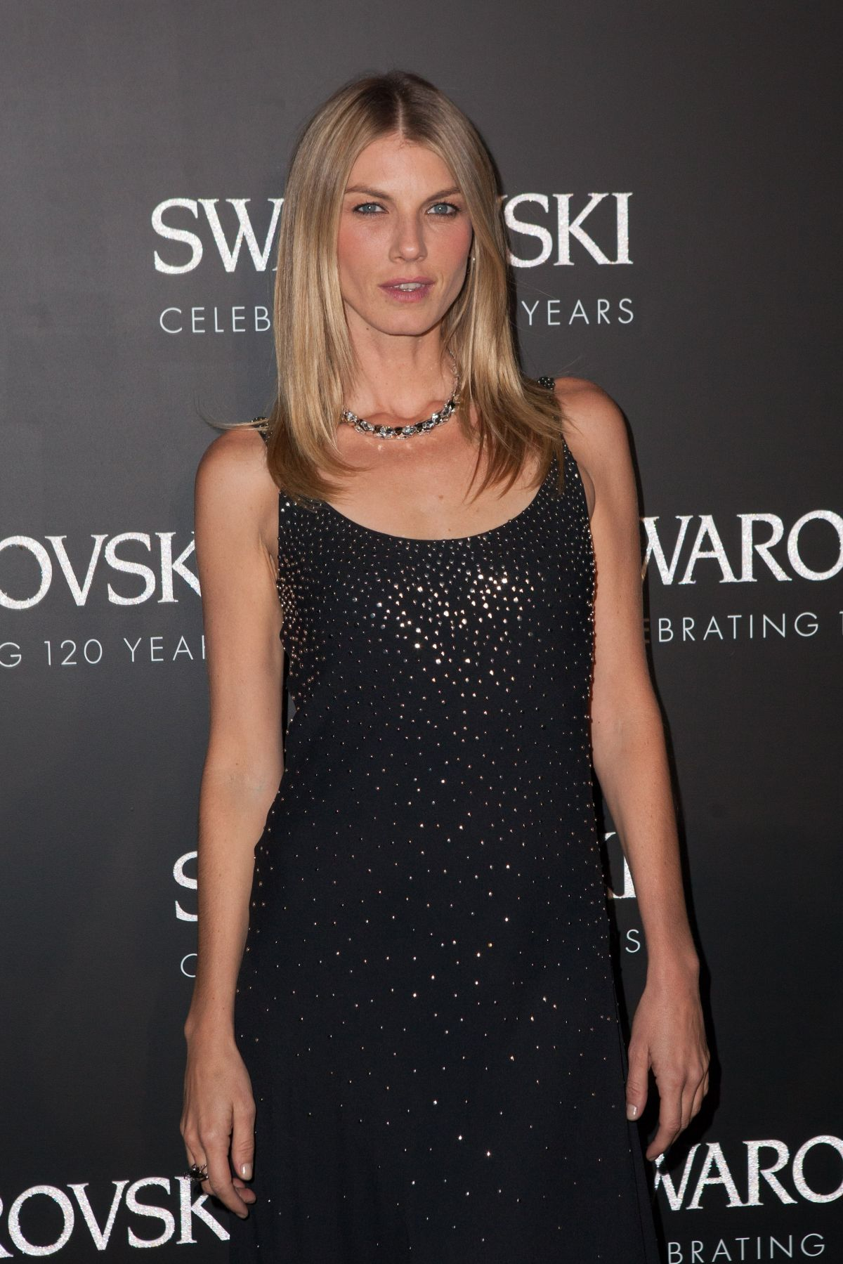 ANGELA LINDVALL at Swarovski 120 x Rizzoli Exhibition and Cocktail in Paris 09/30/2015