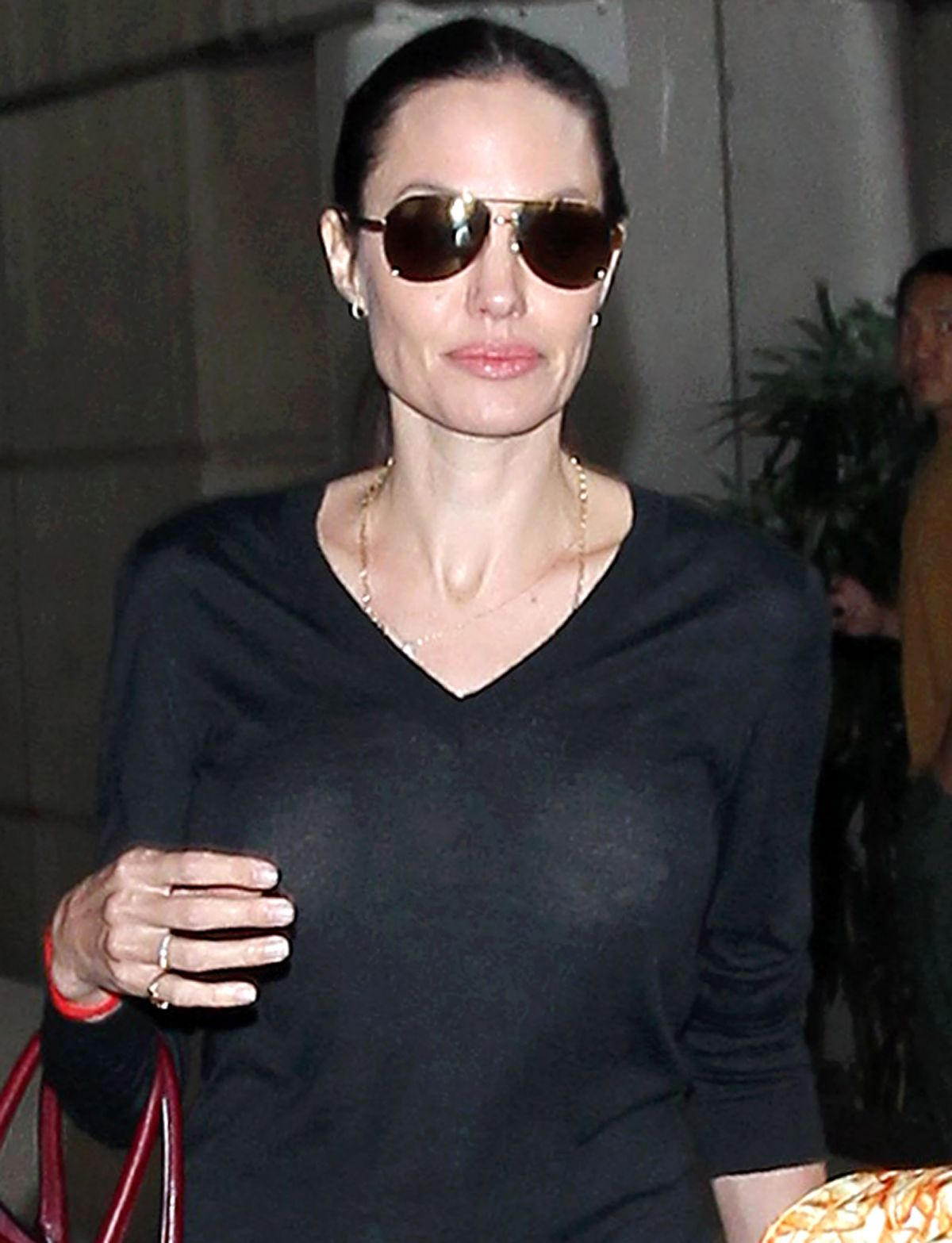 ANGELINA JOLIE Arrives at LAX Airport in Los Angeles 10/27/2015
