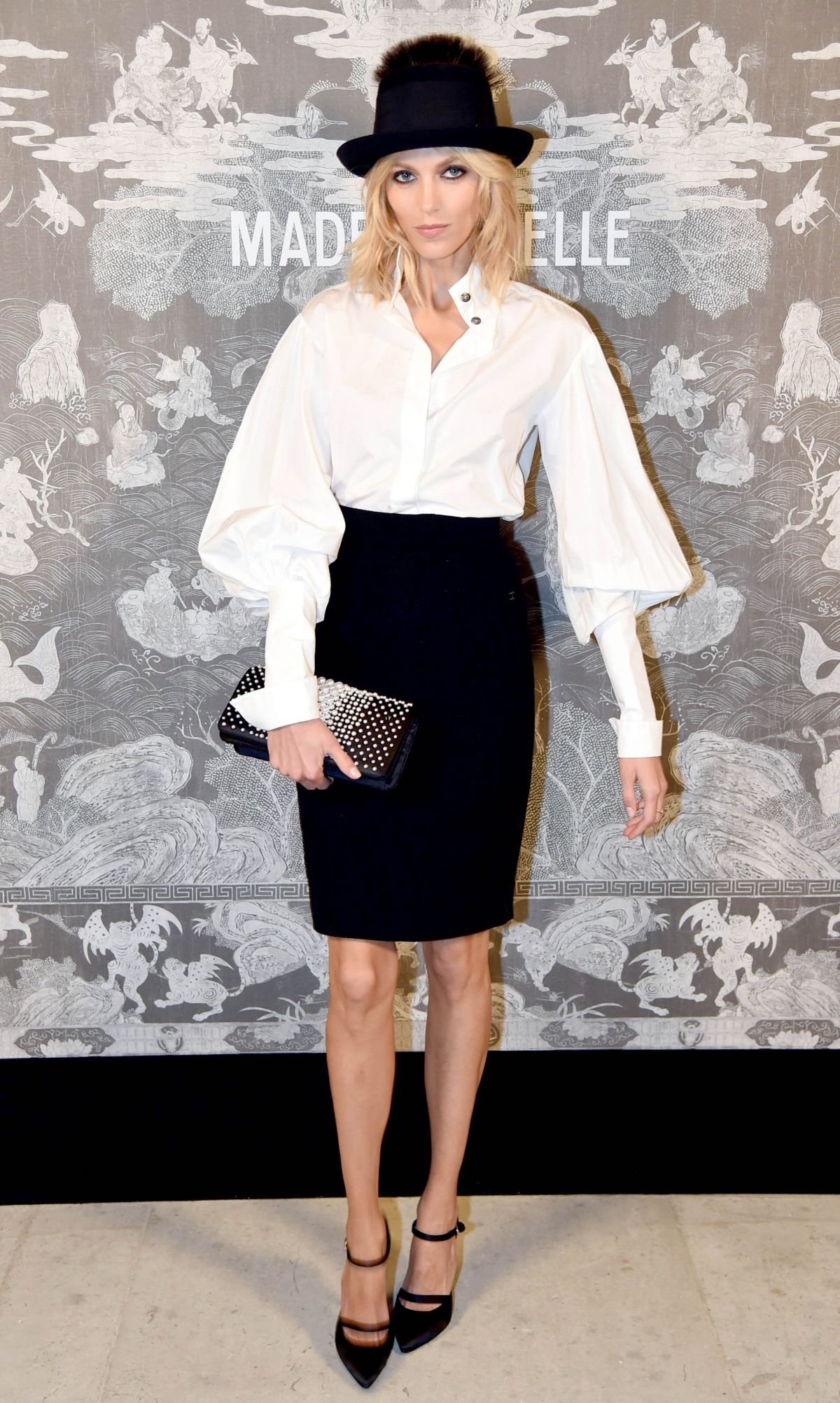 ANJA RUBIK at Chanel Exhibition Party in London 10/12/2015
