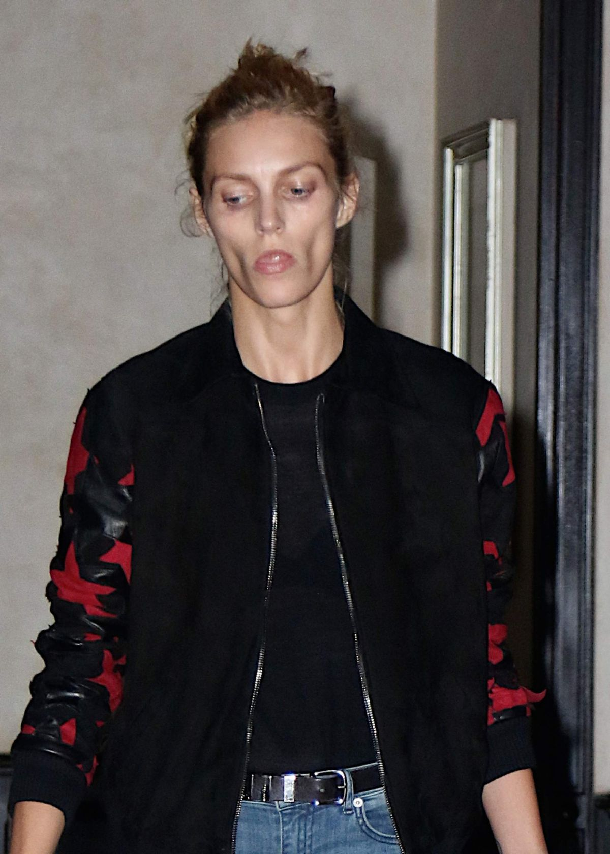 ANJA RUBIK Leaves Greenwich Hotel in The Bronx 10/01/2015