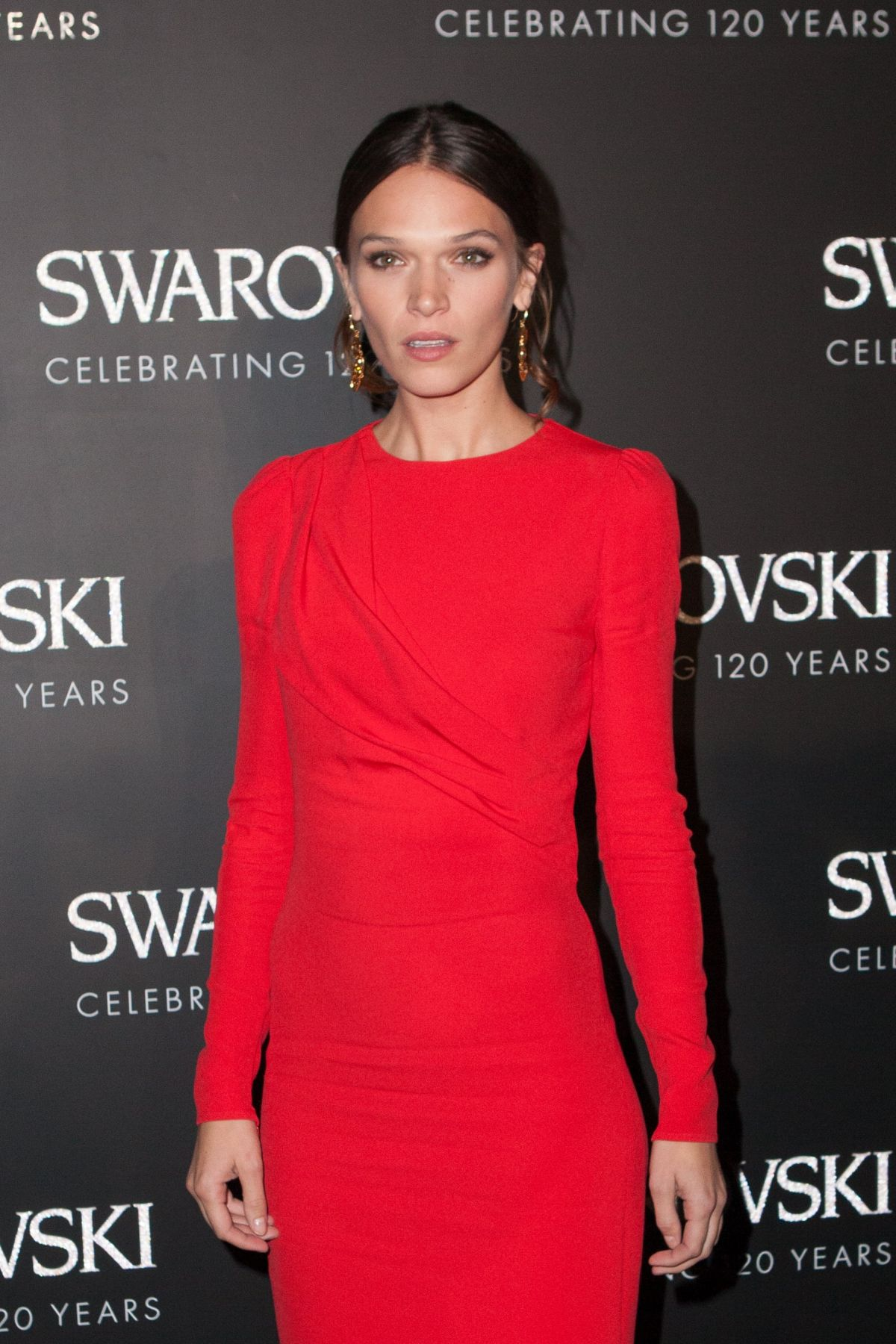 ANNA BREWSTER at Swarovski 120 x Rizzoli Exhibition and Cocktail in Paris 09/30/2015