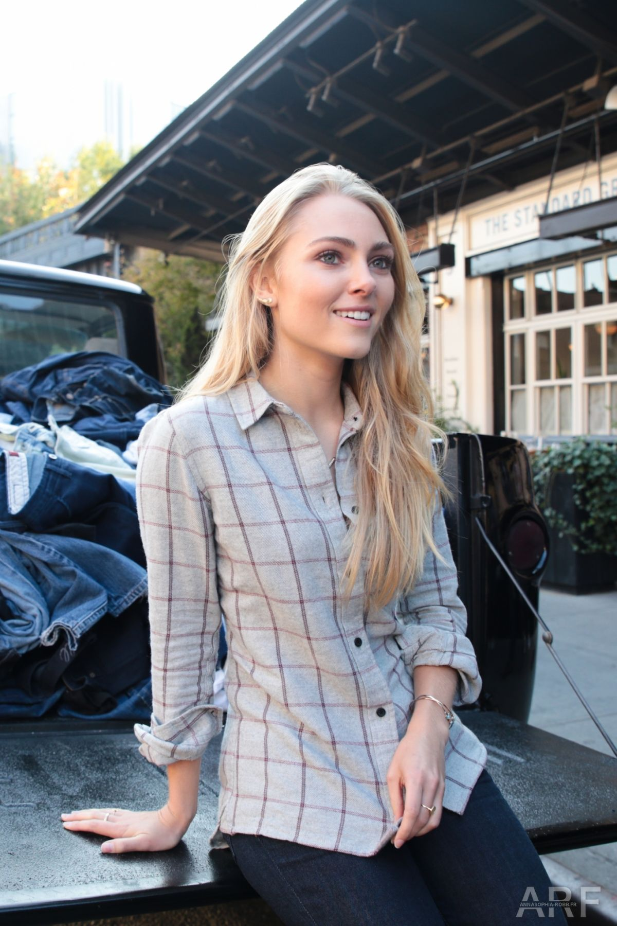 ANNASOPHIA ROBB at Madewell Denim Recycling Drive in New York 10/08/2015